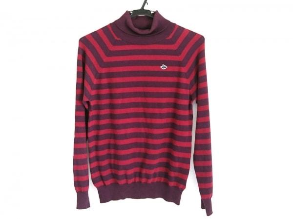 PEARLY GATES(パーリーゲイツ) 長袖セーター サイズ2 M レディース ボルドー×レッド