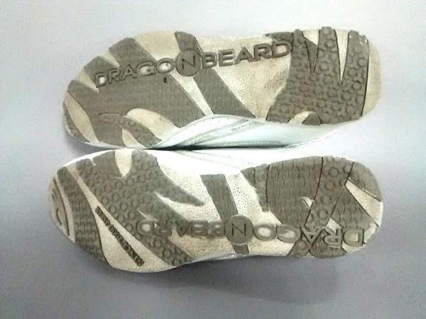 DRAGONBEARD(ドラゴンベアード) スニーカー メンズ 白×シルバー 合皮