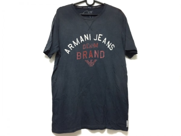 ARMANIJEANS(アルマーニジーンズ) 半袖Tシャツ メンズ ネイビー×白×レッド