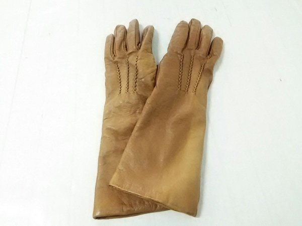 Gala Gloves(ガラグローブ) 手袋 レディース ブラウン レザー