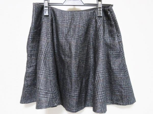 theory(セオリー) スカート サイズ2 S レディース 黒×マルチ フレア