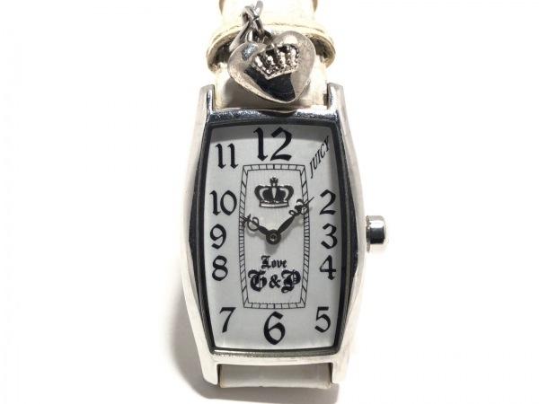 ジューシークチュール 腕時計 JC.46.3.14.01.49 レディース 革ベルト/型押し加工 白