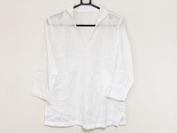 Pallas Palace(パラスパレス) 七分袖カットソー サイズ3 L レディース 白 刺繍