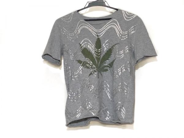ルシアンペラフィネ 半袖Tシャツ サイズS レディース グレー×シルバー×カーキ