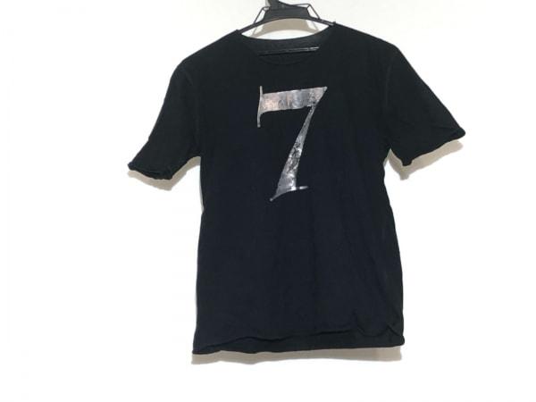 ルシアンペラフィネ 半袖Tシャツ サイズM レディース 黒×シルバー