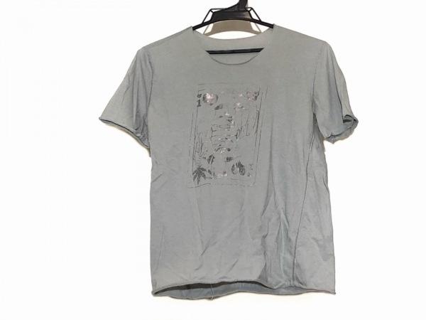 ルシアンペラフィネ 半袖Tシャツ サイズS レディース グレー×シルバー