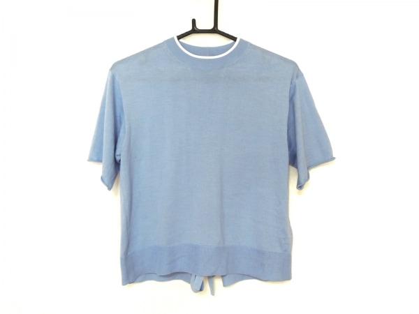 LOUIS VUITTON(ルイヴィトン) 半袖セーター サイズXS レディース美品  ブルー×白