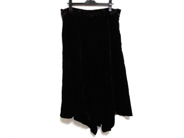 ヨウジヤマモト ロングスカート サイズ1 S レディース美品  黒 ベロア/+NOIR