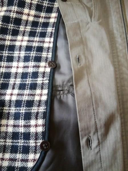 ニューヨーカー コート サイズM メンズ カーキ×ベージュ ネーム刺繍/冬物
