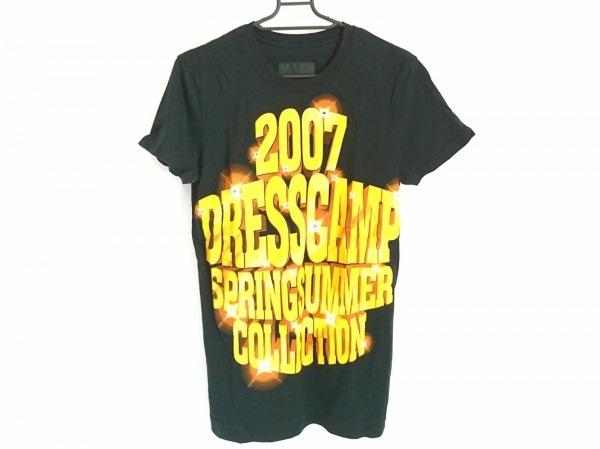 ドレスキャンプ 半袖Tシャツ サイズ44 L レディース 黒×イエロー×オレンジ