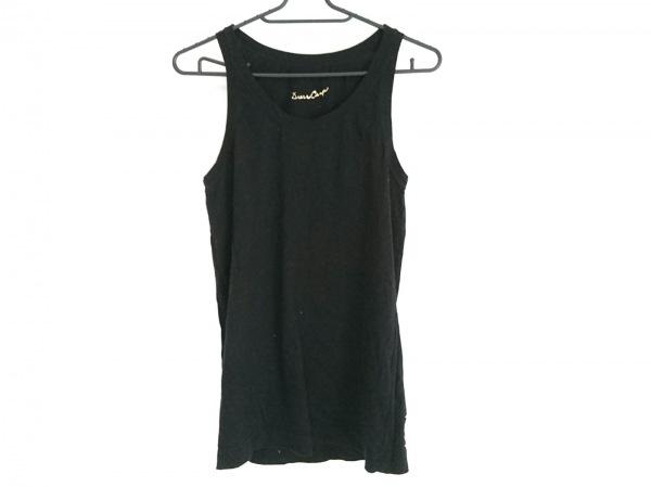 DRESS CAMP(ドレスキャンプ) ノースリーブカットソー サイズ44 L レディース 黒×白