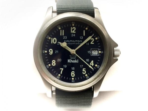 HAMILTON(ハミルトン) 腕時計 カーキキング 9823 メンズ 裏スケ/要OH ネイビー