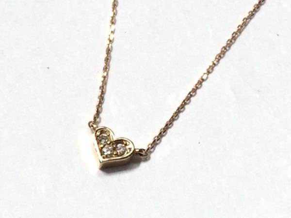 ポンテヴェキオ ネックレス美品  K18YG×ダイヤモンド×カラーストーン レッド