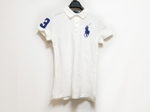 RalphLauren(ラルフローレン) 半袖ポロシャツ サイズM レディース 白
