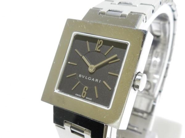 best service f963d c7ba0 BVLGARI(ブルガリ) 腕時計 クアドラード SQ22 SS S レディース 黒