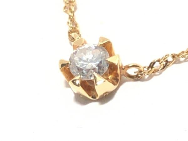 TAKE-UP(テイクアップ) ネックレス美品  K18YG×ダイヤモンド 0.15カラット
