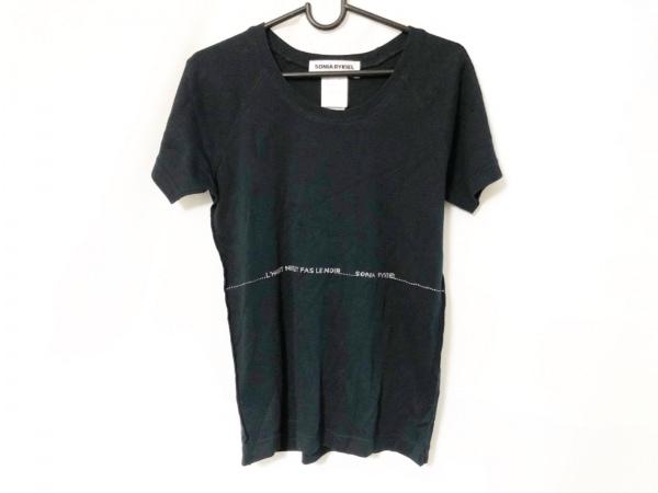 SONIARYKIEL(ソニアリキエル) 半袖Tシャツ サイズL レディース 黒 ラインストーン