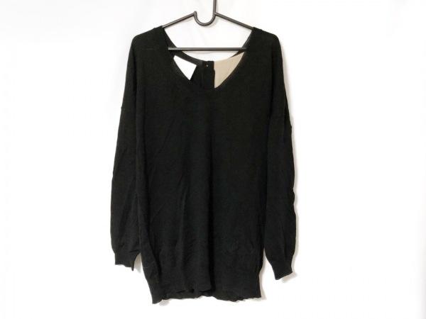 スリーワンフィリップリム 長袖セーター サイズS レディース 黒×ダークブラウン