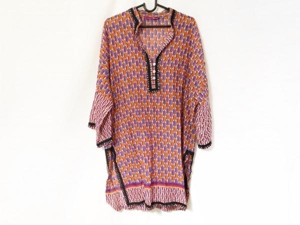 mila schon(ミラショーン) セーター サイズ42 M レディース オレンジ×ブルー×マルチ