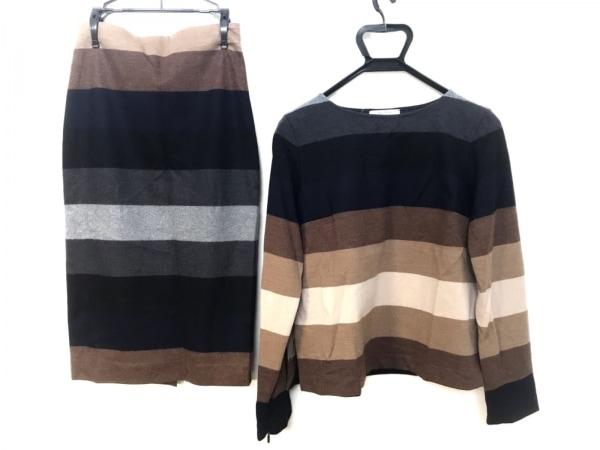 マックスマーラ スカートセットアップ サイズS レディース 黒×ベージュ×マルチ