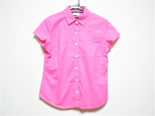 Lacoste(ラコステ) 半袖シャツブラウス サイズ95 レディース ピンク