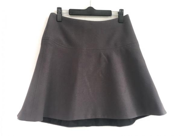 MILLY(ミリー) ミニスカート サイズ4 S レディース ダークグレー