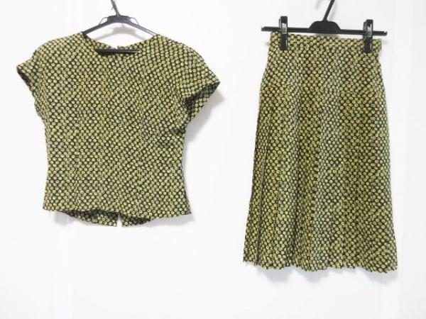 JUN ASHIDA(ジュンアシダ) スカートセットアップ サイズ7 S レディース 黒×イエロー