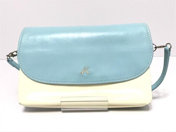 KITAMURA(キタムラ) 財布 ライトブルー×アイボリー レザー