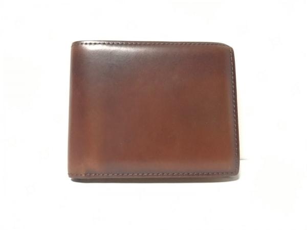 GANZO(ガンゾ) 2つ折り財布 ダークブラウン レザー
