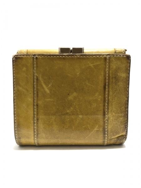 PaulSmith(ポールスミス) Wホック財布 イエロー レザー