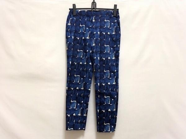トゥモローランド パンツ サイズ36 S レディース ネイビー×黒×アイボリー