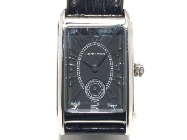 san francisco 88d4a 6c3e9 HAMILTON(ハミルトン) 腕時計 アードモア H114110 レディース 革ベルト 黒