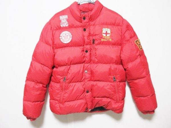 トミーヒルフィガー ダウンジャケット サイズXL メンズ レッド ジップアップ/冬物
