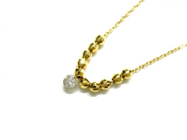 ノーブランド ネックレス美品  K18×ダイヤモンド クリア 総重量:1.1g/0.07刻印