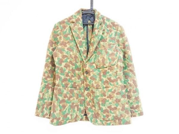 MONITALY(モニタリー) ジャケット サイズ38 M メンズ - - カーキ×グリーン×ブラウン