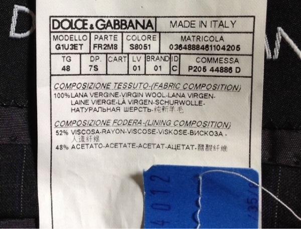 ドルチェアンドガッバーナ シングルスーツ サイズ48 M メンズ ダークグレー×グレー