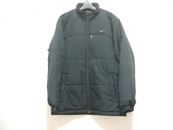 NIKE(ナイキ) ダウンジャケット サイズM メンズ 黒 冬物/ジップアップ