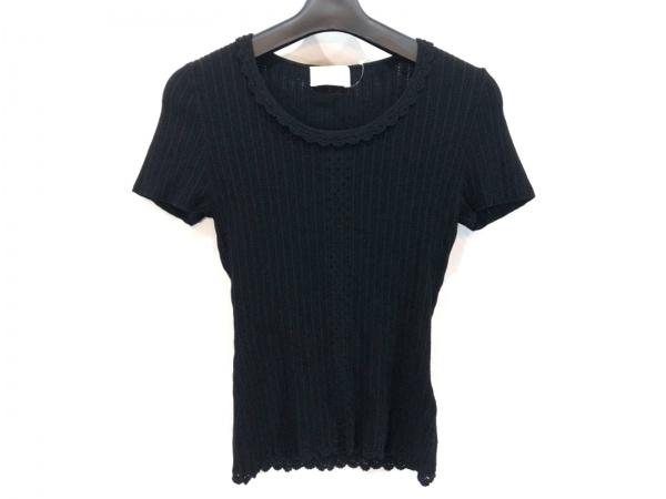 HARRODS(ハロッズ) 半袖Tシャツ レディース美品  黒 ニット