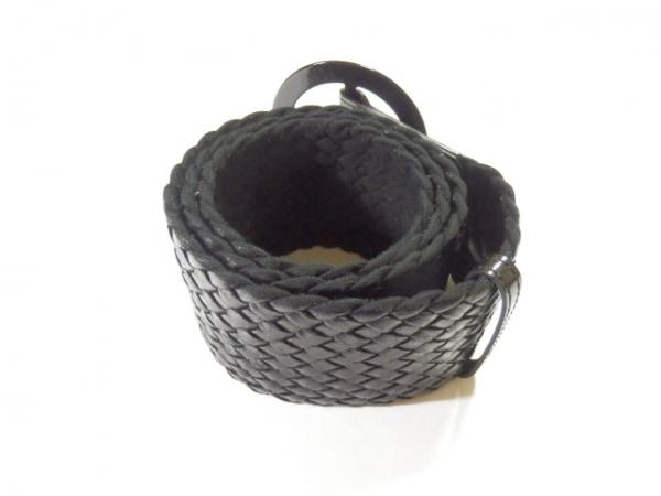 Leilian(レリアン) ベルト 黒 化学繊維×エナメル(合皮)
