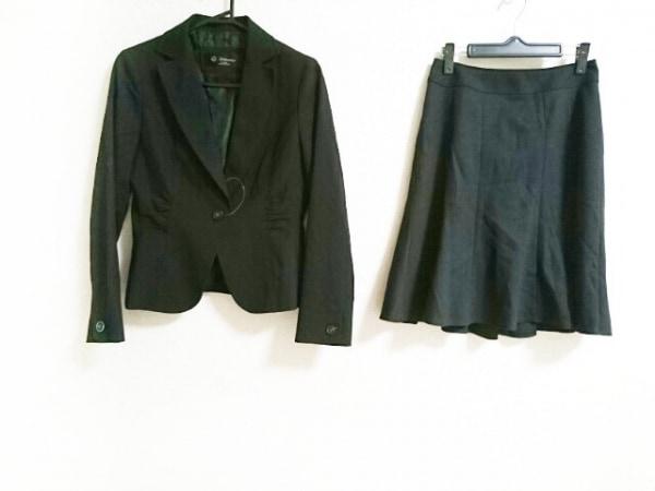 ブリリアントステージ スカートスーツ サイズ9 M レディース美品  黒 肩パッド