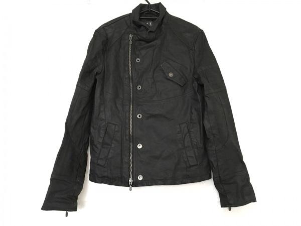 ARMANIEX(アルマーニエクスチェンジ) ライダースジャケット メンズ美品  黒 春・秋物