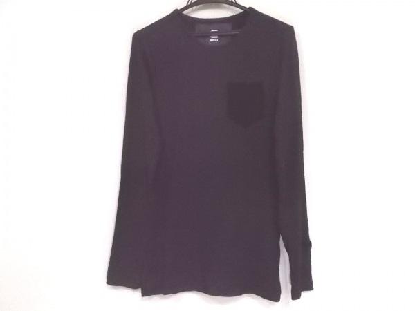 ジースターロゥ 長袖カットソー サイズXXS XS メンズ美品  ダークグレー×黒