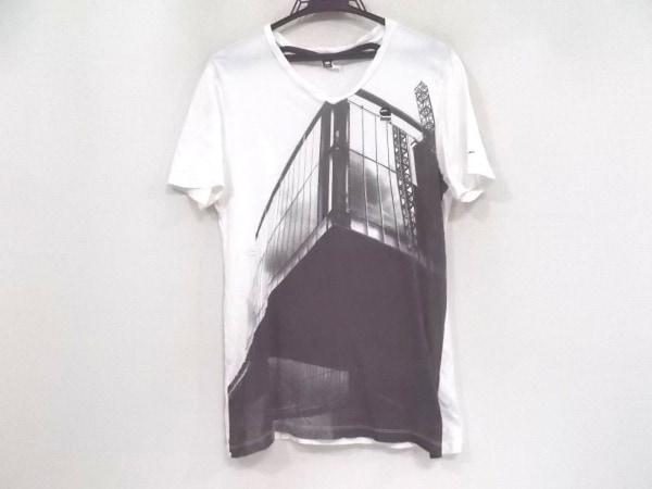ジースターロゥ 半袖Tシャツ サイズS メンズ美品  アイボリー×ダークグレー