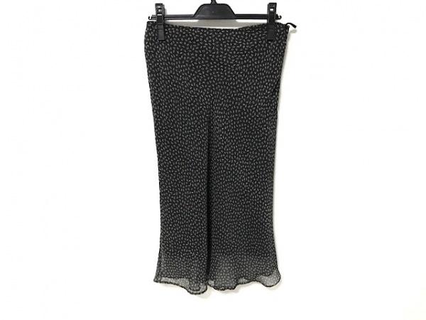 カルバンクライン スカート サイズ40 M レディース美品  黒×グレー×アイボリー
