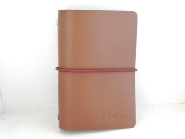 Dakota(ダコタ) 手帳美品  ブラウン 6穴レフィル レザー×金属素材