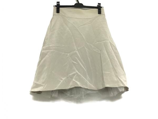 FOXEY(フォクシー) スカート サイズ40 M レディース ライトグレー
