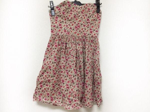 LIBERTY(リバティ) ドレス サイズ4 XL レディース美品  アイボリー×ボルドー×マルチ