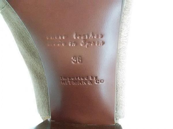 CHIE MIHARA(チエミハラ) サンダル 36 レディース ORMAI ブラウン スエード