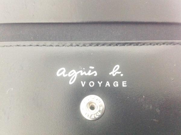 agnes b(アニエスベー) Wホック財布 黒 レザー