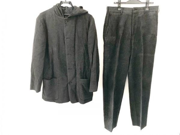 ダナキャラン シングルスーツ サイズ32 XS メンズ美品  ダークグレー フード/シングル